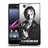 オフィシャルAMC The Walking Dead Rick フィルターポートレート ハードバックケース Sony Xperia Z1 Compact / D5503