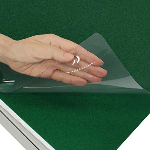 プラス デスクマット 透明 軟質 エコノミータイプ  下敷付 1190×590mm 41-063