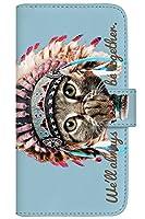 with NYAGO 手帳型 ケース レザー 厚手タイプ docomo HUAWEI P20 Pro (HW-01K) インディアン ソラちゃん 肉球をペロペロするにゃー。 かわいい猫フェイス手帳 7019 ホライズン ブルー