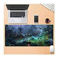 Zenghh XXLスピードゲーミングマウスマット - 表マットラージサイズのマウスパッド - 滑らかな表面上で安定したグリップラバーベース - - 精度とスピードを改善し、非スリップ (Color : G, サイズ : 900X400MM)
