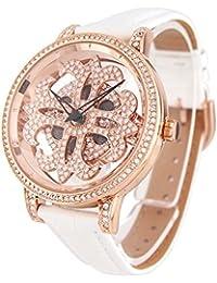 アンコキーヌ スケルトン ミニクロス<本体:ゴールド><ベルト:シロ>1240-0001 腕時計 グルグル時計 ぐるぐる時計