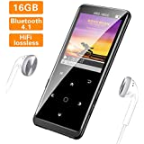 MP3 Player,16GB MP3 Player with Bluetooth 4.1, Portable HiFi Lossless Sound MP3 Music Player with FM Radio Voice Recorder E-Book,Backlit Keys, Support up 64G, (Music Headphone Included)