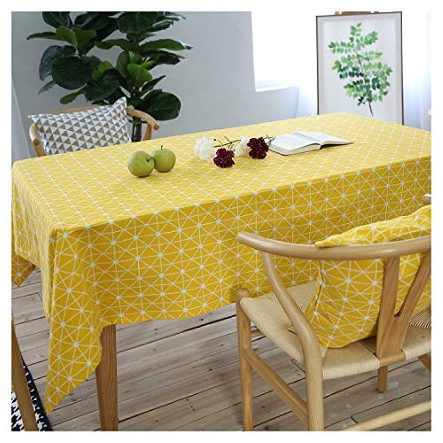 おばあさんロックコンサートLuckya テーブルクロス テーブルマット テーブルクロス防塵長方形コーヒーテーブルリビングルームテーブルクロス お手入れ簡単 家庭用 (Color : Yellow, Size : 140*140)