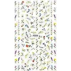 【F325】 一輪花シール 花 フラワー ボタニカル 一輪花 花 花束 花畑 ネイルシール
