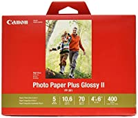 CanonInk Photo Paper Plus Glossy II 10cm x 15cm 400 Sheets (1432C007)