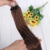 FidgetGear 7A 100 / 200Sオンブルマイクロリングループシリコンビーズレミー人毛エクステンション #04ミディアムブラウン