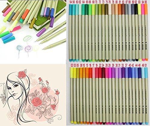 0.3mm線グラフィックペン 48色