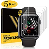 Apple Watch Series4/Series5 フィルム 44mm SHINEZONE アップルウォッチ5 フィルム TPU製 曲面を全面カバー 「指の滑りも良く」「簡単に剥がれ」「気泡自己修復」「ホコリ・擦り傷対策」「指紋防止」【5枚パック】