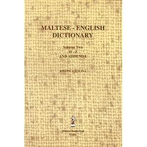 Maltese - English - Maltese Dictionary. Six Volumes