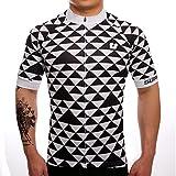SUREA サイクルジャージ サイクルウェア 通気速乾 新型生地 メンズ 半袖 春夏用 シャツ フィット感重視 自転車ウェア サイクリングウェア Lサイズ