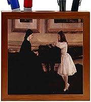 Rikki Knight Whistler Art at the Piano Design 5-Inch Wooden Tile Pen Holder (RK-PH3731) [並行輸入品]