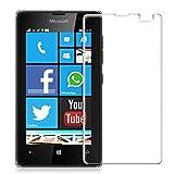 kwmobile 超強力保護ガラスディスプレイ Microsoft Lumia 435用 お好みのパターン - 保護ガラス 保護フィルム ディスプレイ保護