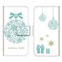 Xperia XZ SOV34 ケース 手帳型 スマホケース カードケース 収納ポケット カードポケット エクスペリア カバー/オーナメント クリスマス 雪