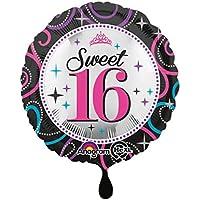 Anagram 18 Inch Circle Foil Balloon - Sweet 16 Sparkle