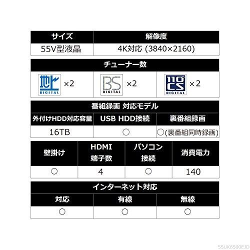 『LG 55V型 液晶 テレビ 55UK6500EJD 4K HDR対応 エッジ型LED IPSパネル 2018年モデル』の8枚目の画像