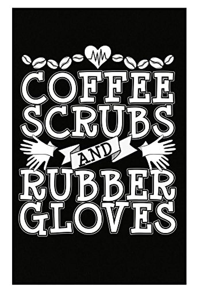 天気近代化軽減するコーヒーScrubsとゴム手袋看護師Doctor Surgeon – ポスター 11x17 inches ブラック