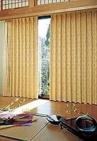 アスワン すすきがゆれる風景を描き出したカーテン カーテン2倍ヒダ E6182 幅:250cm ×丈:130cm (2枚組)オーダーカーテン
