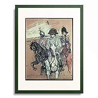 アンリ・ド・トゥールーズ=ロートレック Henri Marie Raymond de Toulouse-Lautrec-Monfa 「Napoleon Bonaparte」 額装アート作品