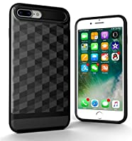 LoveBee Phone Case for iPhone 7 Plus Case 携帯電話ケース プロテクター Back Bumper Cover [ Black ]