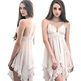 AnnaMu 大きいサイズ ベビードール ランジェリードレス ルームウェア 胸刺繍 LLサイズ 白 レディース z1650