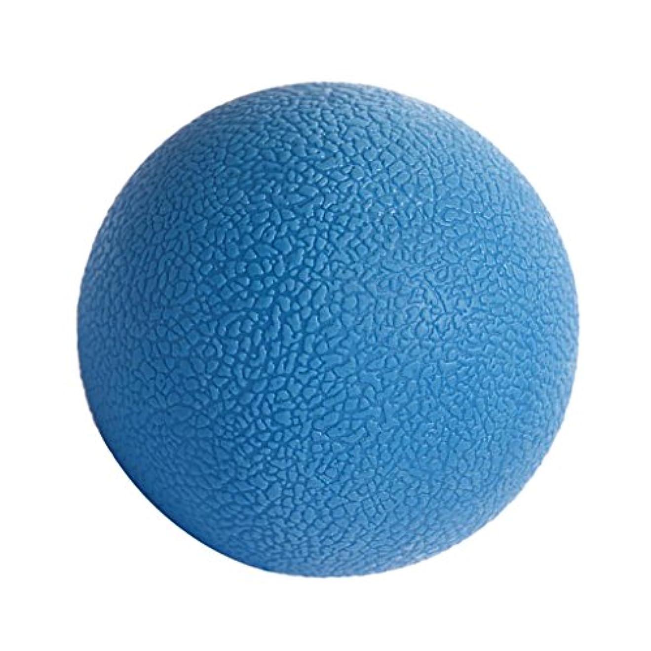 絵止まるジャムKesoto マッサージボール ジムフィットネス 筋肉マッサージ ボール トリガーポイント 4色選べる - 青