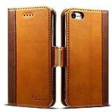 iPhone8 ケース 手帳型 iPhone7ケース Rssviss アイフォン7 ケース iPhone 8 ケース ワイヤレス充電対応 マグネット W3 ブラウン(iPhone8&iPhone7対応)【4.7inch】