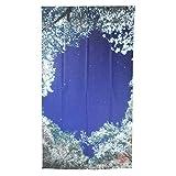 写真家渾身の一枚 美のれん 高遠城址公園 桜 ブルー系 幅85×丈150cm 日本製 限定品