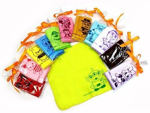 [해외]면 100 % 디즈니 미니 타올 리본 개 포장이라 작은 선물 맹활약 20 × 20cm 12 데니어/100% cotton with Disney`s mini towel ribbon Individual packaging so big for big gifts 20 x 20 cm 12 with pattern