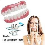 のシリコーンの歯のベニヤの歯の快適さのフィットフレックス化粧品の歯義歯の歯のトップとボトム化粧品のベニヤのシミュレーションのブレースワンサイズフィットすべて