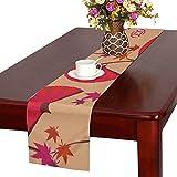 LKCDNG テーブルランナー 赤い きれい 和風の扇子 クロス 食卓カバー 麻綿製 欧米 おしゃれ 16 Inch X 72 Inch (40cm X 182cm) キッチン ダイニング ホーム デコレーション モダン リビング 洗える