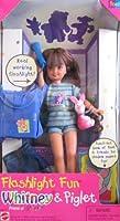 Barbie - Flashlight Fun WHITNEY & Piglet, Friend of Stacie Doll (1997) [並行輸入品]