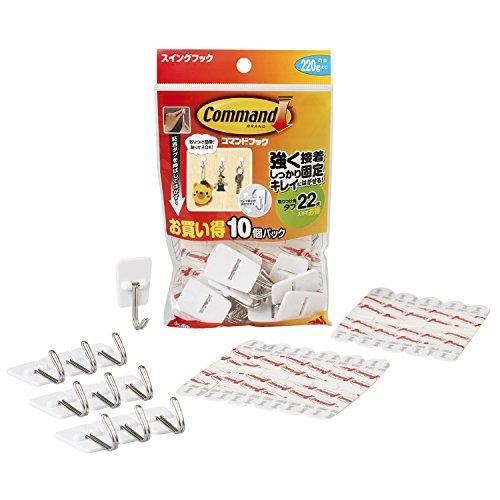 ジャパン コマンドTMフック スイングフックお買い得パック CM20-10S 1パック(フック10個・タブ22枚)