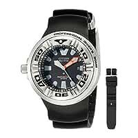 CITIZEN[シチズン] MODEL NO.bj8050-08e Men's ECO-DRIVE WR300 Professional Diver Black Rubber Strap エコドライブ 海外モデル 腕時計 逆輸入品