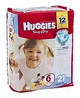 HUGGIES ハギーズおむつスナッグ&ドライディズニーサイズ6(35ポンド以上)21 CT(4パック)