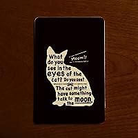 モバイルバッテリー カードサイズ 超軽量 コンパクト ねこ 白猫 黒