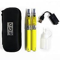 Biliboo CE4+ego 1100mah 電子タバコ 初心者向け 禁煙セット充電可能 サイズ小さい 持ち運び簡単 2つセット アトマイザーなど 個別購入可能(イエロー)