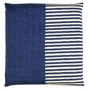 メリーナイト(Merry Night) 日本製 綿100% 座布団カバー 「無地縞」 銘仙判 55×59cm ネイビー Z701-72