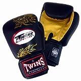 Twins ボクシンググローブ ドラゴン Gold/Black 8オンス