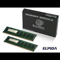 サンマックス テクノロジーズ メモリ DDR3-1333 (PC3-10600) 2GB x2枚組み SMD-4G88NP-13H-D