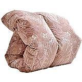 タンスのゲン ホワイトグースダウン93% 【増量1.2kg & 花粉free生地】 羽毛布団 日本製 シングルロング 400dp(かさ高165mm)以上 消臭抗菌 国内パワーアップ加工 CILゴールドラベル ピンク 10119202 61