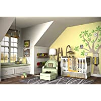 DK Leigh Owl 5 Piece Gender Neutral Crib Bedding Sett, Yellow/Green by DK LEIGH