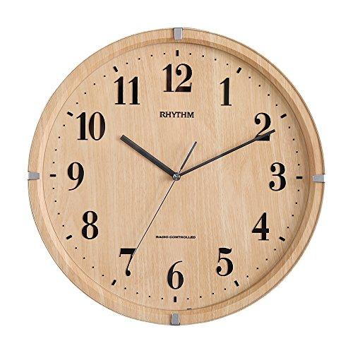 おしゃれでシンプル、遠くからでも見やすい壁掛け時計 電波時計...