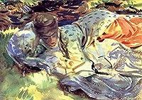¥5K-200k 手書き-キャンバスの油絵 - 美術大学の先生直筆 - Zuleika John Singer Sargent 絵画 洋画 複製画 ウォールアートデコレーション -サイズ04