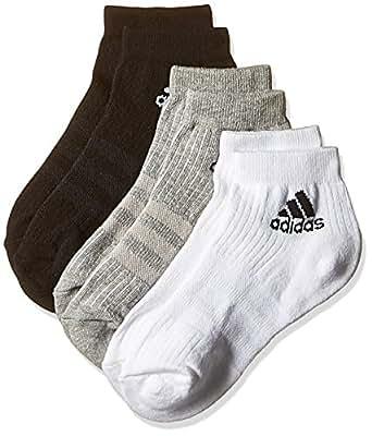 (アディダス)adidas トレーニングウェア 3ストライプ パフォーマンス 3Pショートソックス KAW64 [ユニセックス] AA2287 ブラック/ミディアムグレイヘザー/ホワイト 22-24cm