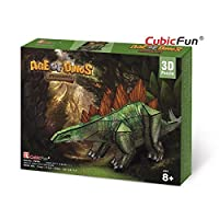 3D Jigsaw Puzzle Stegosaurus CubicFun 3D Puzzle P670h 49 Pieces Decorative Fashion Best Seller Cubic Fun Exiting Fun Educational Historic Playing Building Game DIY Holiday kids Best Gift Toy Set