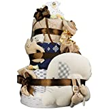 今治タオル imabari towel 出産祝い 日本製 オーガニック 最高級3段DX おむつケーキ おすみつき (goonテープタイプSサイズ)