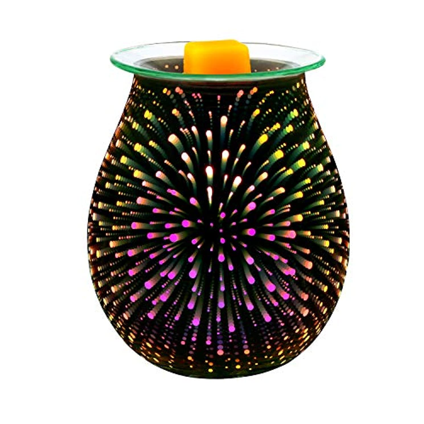 盆地キャロラインラジエーターElectric Oil Warmer COOSA 3D Effect Starburst Fireworks Glass Wax Tart Burner Fragrance Candle Warmer Incense...