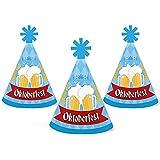 Oktoberfest - Mini Cone German Beer Festival Hats - Small Little Party Hats - Set of 10