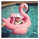 Asamoom フラミンゴ 浮き輪 子供用 浮き輪 足入れ フロート プール 海 夏のインフレータブル玩具 1-3歳