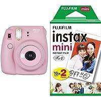 FUJIFILM インスタントカメラ チェキ instax mini8プラス ストロベリー + フィルムセット